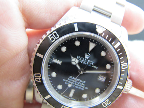 2000 Rolex SEA DWELLER 16600 with Black Dial and SEL