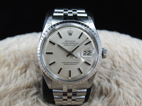 1972 Rolex DATEJUST 1603 SS ORIGINAL Silver Dial with Solid Jubilee
