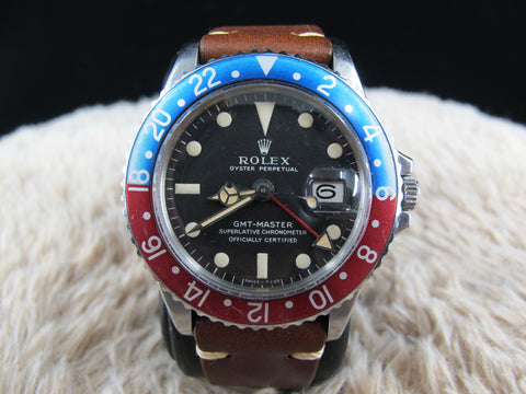 1968 Rolex GMT MASTER 1675 Pepsi with Mark 1 Long 'E' Dial