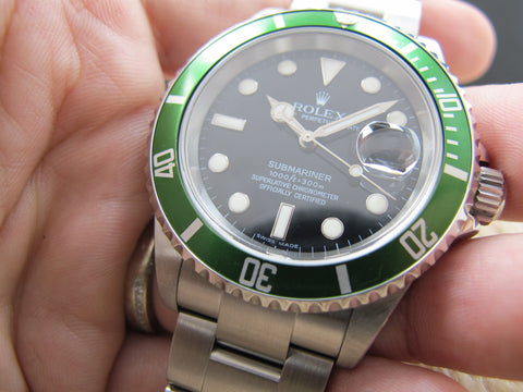 2006 Rolex SUBMARINER 16610LV Green Bezel Full Set