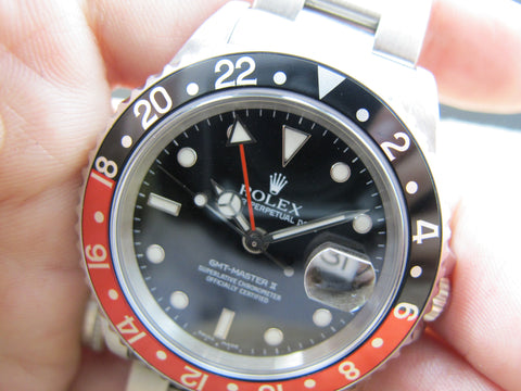 2004 Rolex GMT MASTER 2 16710 Coke Red/Black Bezel with RSC Paper