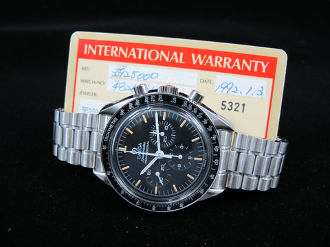 1992 Omega SPEEDMASTER Professional 3592.50 Chronograph Moon Watch