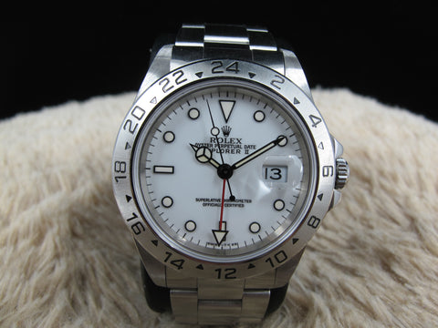 1996 Rolex EXPLORER 2 16570 White (T25) Dial and Yellow Lume