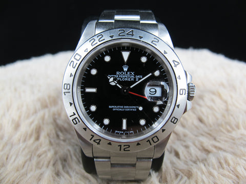 1995 Rolex EXPLORER 2 16570 with Black (T25) Dial