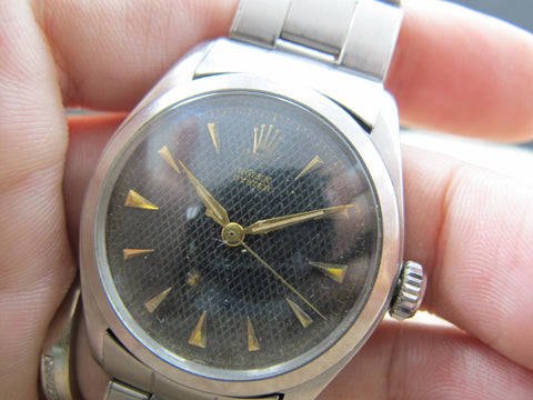 1952 Rolex OYSTER 6082 with Original Black Honeycomb Dial
