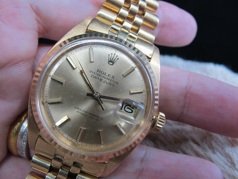 [1967] Rolex DATEJUST 1601 18K YG with Original Gold Dial Full Set