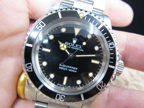 1987 Rolex SUBMARINER 5513 with WG Marker and Strong Patina