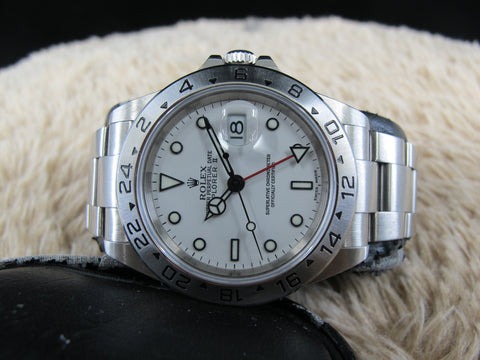 [2003] Rolex EXPLORER 2 16570 White Dial with Box and Paper