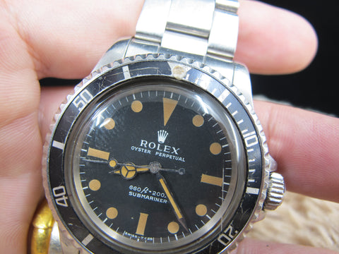 1980 Rolex SUBMARINER 5513 Matt Serif Dial with Box and Paper