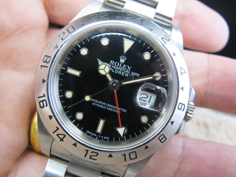 [1991] Rolex EXPLORER 2 16570 Black T25 Dial with Cream Lume and Full Set