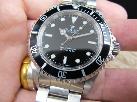 2003 Rolex SUBMARINER 14060M with Box and Paper