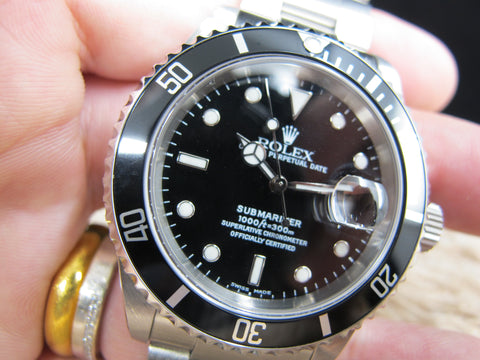 2000 Rolex SUBMARINER 16610 Black Dial with Box and Paper