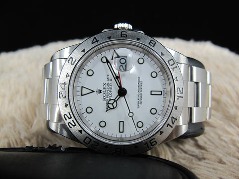 [1999] Rolex EXPLORER 2 16570 White Dial with Box and Paper