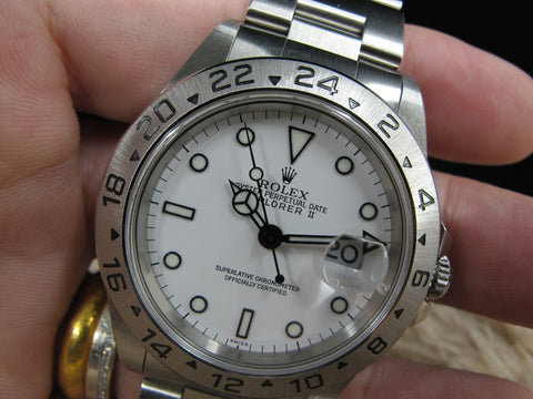 1999 Rolex EXPLORER 2 16570 White Dial with Box and Paper