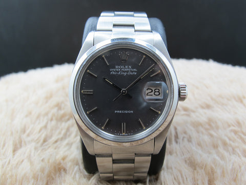 1984 Rolex AIR KING DATE 5700 with Original Grey Dial and Solid Oyster Band