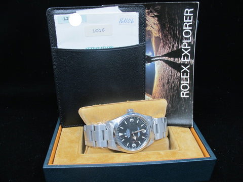 1990 Rolex EXPLORER 1 1016 Matt Dial with Box and Papers (L Serial)