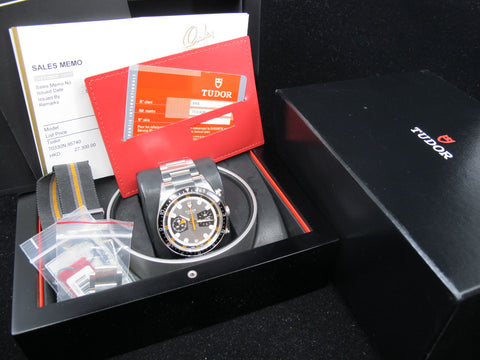 [2010] Tudor HERITAGE CHRONOGRAPH 70330N Grey Dial with Full Set