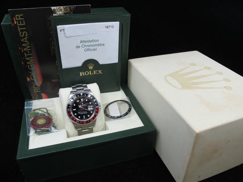 [2004] Rolex GMT MASTER 2 16710 Coke Red/Black Bezel Full Set