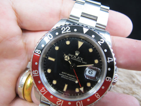 [1991] Rolex GMT MASTER 2 16710 (T25 Dial) Yellow Lume with Coke Bezel Full Set
