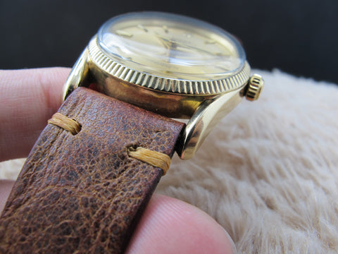 1957 Rolex BOMBAY 6590/3 14K Yellow Gold with Gold Dial