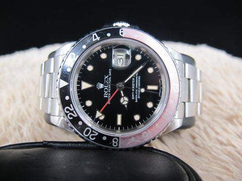 "[1986] Rolex GMT MASTER 2 16760 ""FAT LADY"" with Box and Papers"