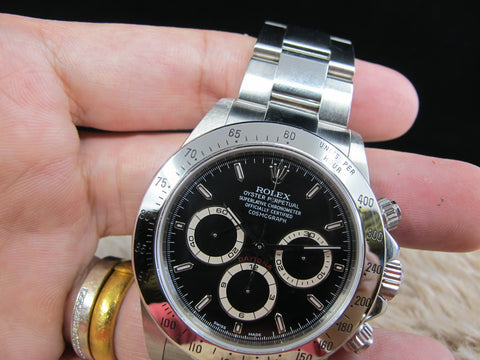 [1999] Rolex DAYTONA 16520 Black Dial with Full Set A Serial (Unpolished)