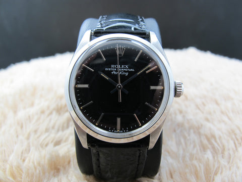 1979 Rolex AIR KING 5500 with Original Glossy Black Dial