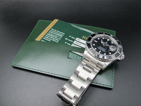 2007 Rolex SUBMARINER 16610 (No Hole Case) with Card