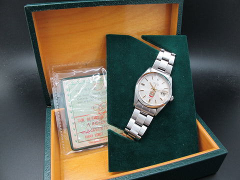 1967 Rolex OYSTER DATE 6694 Original Eagle Crest Silver Dial with Box and Paper
