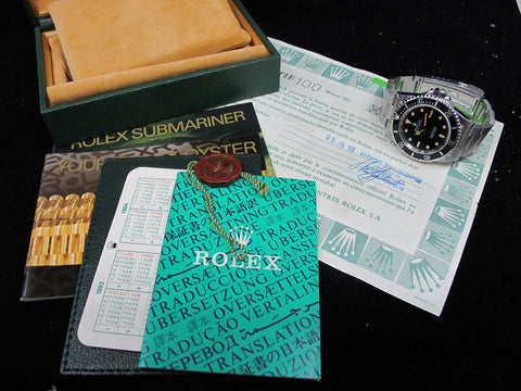 [1991] Rolex SUBMARINER 14060 T25 Yellow Lume Dial with Box and Paper
