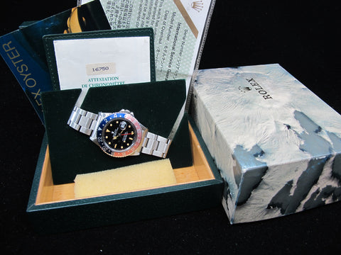 [1985] Rolex GMT MASTER 16750 Pepsi Pumpkin Lume with Box and Paper