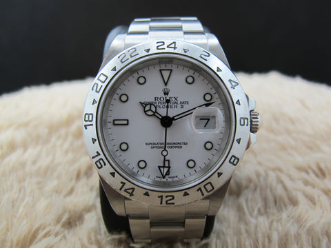 2003 Rolex EXPLORER 2 16570 White Dial with Paper