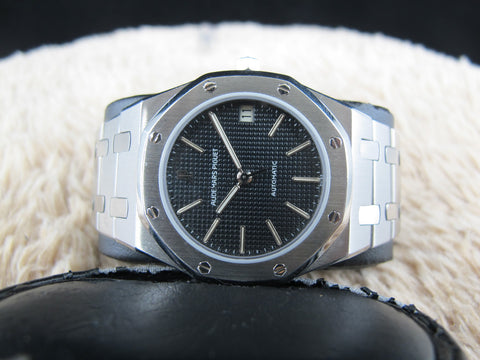[1980] Audemars Piguet ROYAL OAK 4100ST Steel with Blue Dial Full Set