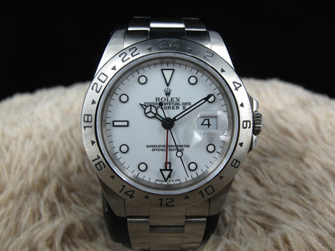 1990 Rolex EXPLORER 2 16570 with White T25 Dial