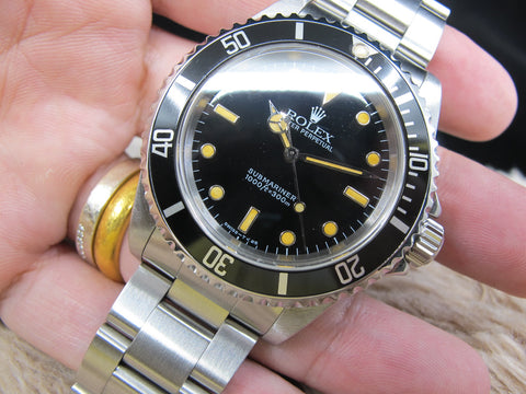[1998] Rolex SUBMARINER 14060 T25 Yellow Lume Dial with Box and Paper