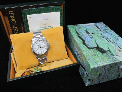 [1997] Rolex EXPLORER 2 16570 White T25 Cream Lume Dial with Box and Paper