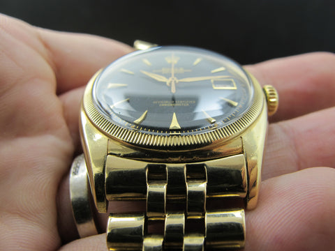 1953 Rolex OYSTER PERPETUAL 6105 10K Yellow Gold BIG Bubbleback