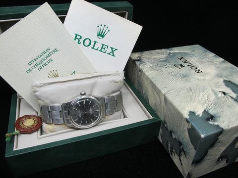 [1969] Rolex OYSTER PERPETUAL 1005 Original Grey Dial with Box and Papers