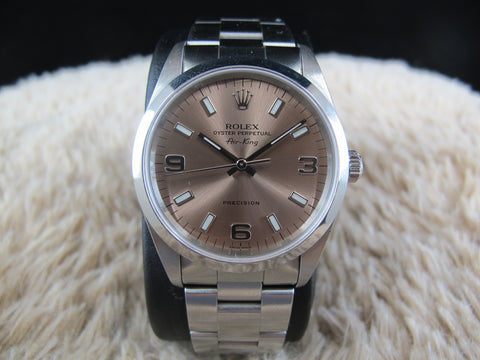 1999 Rolex AIR KING 14000 Salmon Explorer Dial (Unpolished)