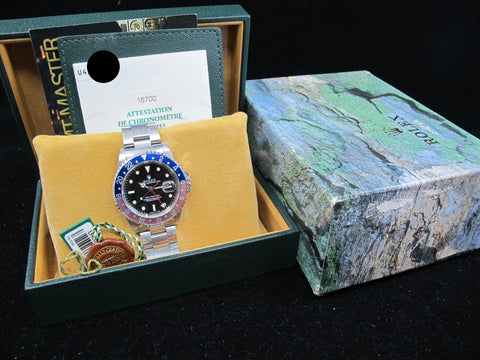 [1998] Rolex GMT MASTER 16700 (T25 Dial) Faded Pepsi Insert Full Set