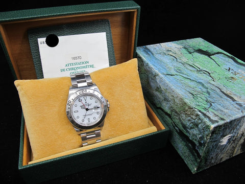 [1997] Rolex EXPLORER 2 16570 White T25 Dial with Box and Paper