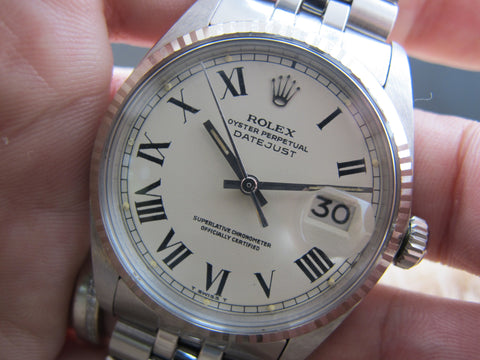 1972 Rolex DATEJUST 1601 SS ORIGINAL Creamy Buckley Dial with Paper