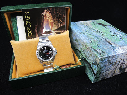 "[1998] Rolex EXPLORER 2 16570 Black ""SWISS"" Dial with Box and Paper"