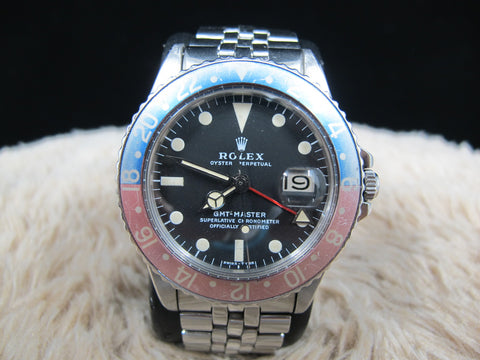 [1977] Rolex GMT MASTER 1675 MK2 Dial Pepsi with Box and Papers