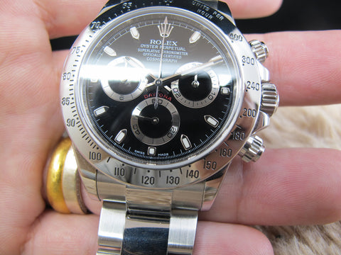 [2013] Rolex DAYTONA 116520 Stainless Steel Black Dial with Full Set