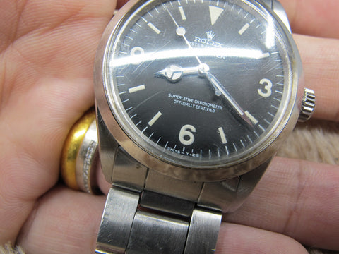 "1969 Rolex EXPLORER 1 1016 MK1 ""Frog Foot"" Dial Full Set with Box and Papers"