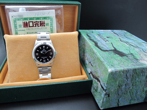 1999 Rolex EXPLORER 1 14270 Black (SWISS MADE) Dial with Box and Papers