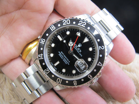 [2003] Rolex GMT MASTER 2 16710 Black Bezel Full Set (UNPOLISHED)