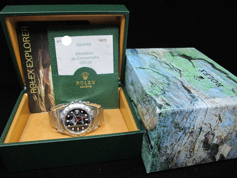 2005 Rolex EXPLORER 2 16570 Black Dial with Box and Paper (Unpolished)