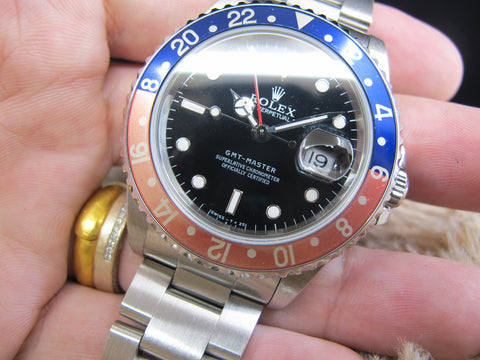 [1997] Rolex GMT MASTER 16700 Pepsi Red/Blue Bezel with BOX and PAPER